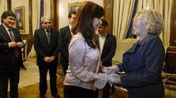 Carmena, recibida por la presidenta de