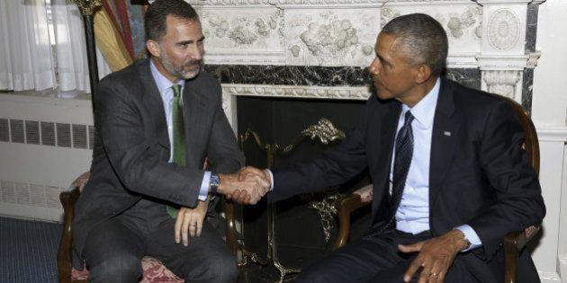 El rey Felipe y Obama: el presidente de EEUU recibe en Nueva York a Felipe VI