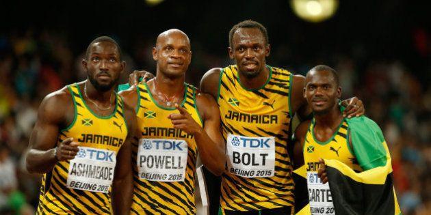 Usain Bolt conquista el triplete con el oro de Jamaica en la final