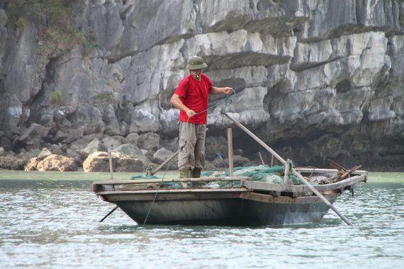 Halong Bay, Vietnam: tierra de