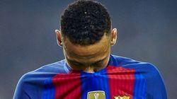 Neymar sale ileso de un accidente con su