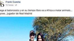 Frank Cuesta publica una imagen del madridista Jaycee Carroll junto a una cebra