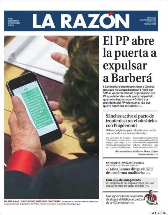 Barberá avisó a Interior de amenazas de muerte antes de fallecer, según 'El