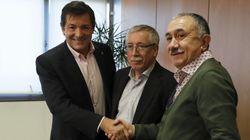 UGT y CCOO recaban el apoyo del PSOE para las movilizaciones de