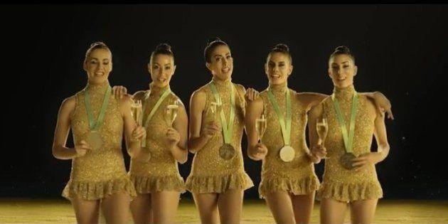 Anuncio Freixenet 2016: el equipo de gimnasia rítmica repite brindis