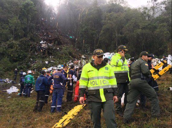 76 fallecidos al estrellarse en Colombia un avión donde viajaba un equipo de