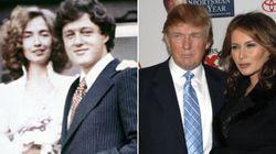 Las diferencias entre la boda de Hillary Clinton y la de Donald