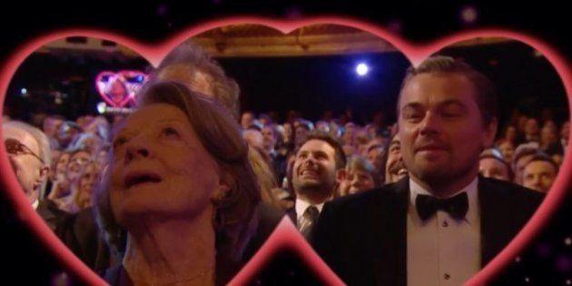 Kiss Cam en los Bafta: las cámaras apuntan a Maggie Smith y Leonardo