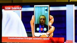 Así ha entrado Erdogan en la televisión turca tras el golpe de
