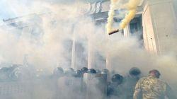 Un muerto en las protestas en Kiev por la cesión de poder a las