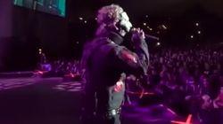 Al vocalista de 'Slipknot' no le gustó lo que estaba haciendo este fan en su