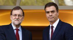¡Vaya caras! El saludo de Rajoy y Sánchez en La