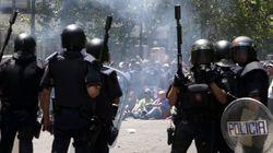 Carga policiales en la manifestación del