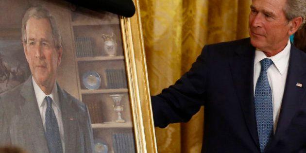 Elecciones EEUU 2012: Obama y Bush apartan rencores por un día para desvelar el retrato del