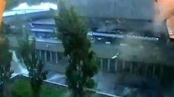 Las primeras imágenes de la explosión de la furgoneta bomba de Breivik