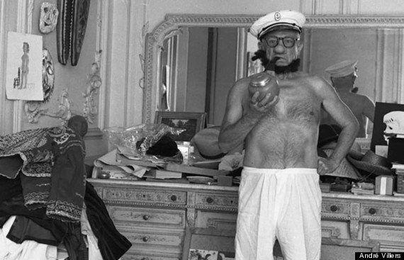Retrato de André Villers de Pablo Picasso vestido como Popeye