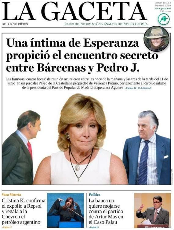 Aguirre niega haber puesto en contacto a Pedro J. con