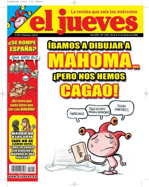 La embajada de España en Egipto pide extremar las precauciones por la portada sobre Mahoma de 'El Jueves'