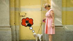 Arte callejero interactivo que te sigue los pasos