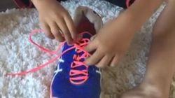 El truco para enseñar cómo atarse los cordones que ya han visto millones de