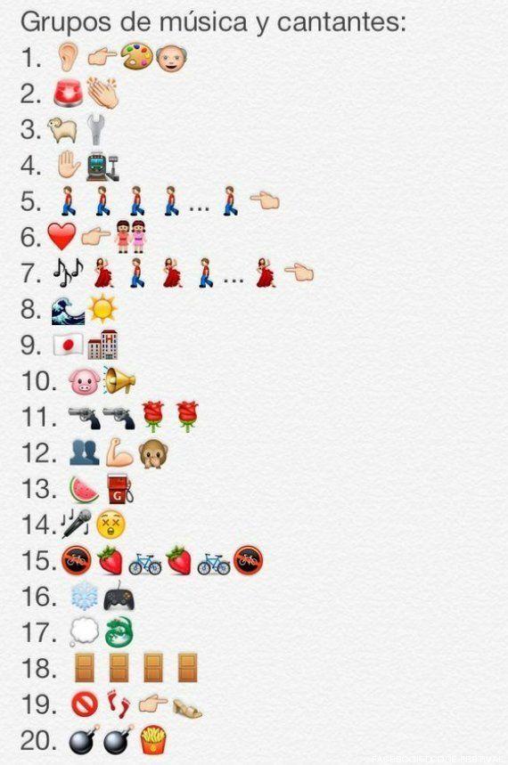 Grupos de música en emojis de WhatsApp: juego de adivinanzas