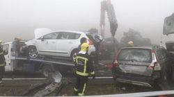 Una mujer muerta y más de 30 heridos en un accidente en