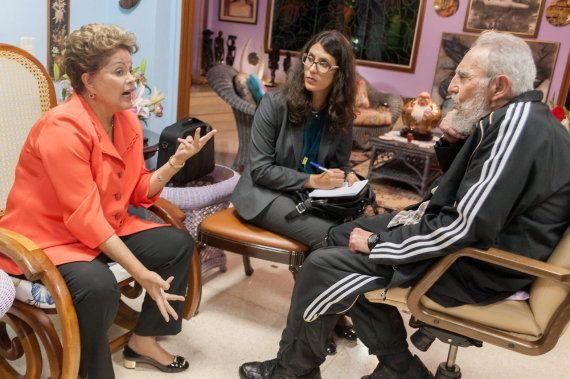 Fidel Castro recibe las visitas de las líderes de Argentina, Brasil y Jamaica