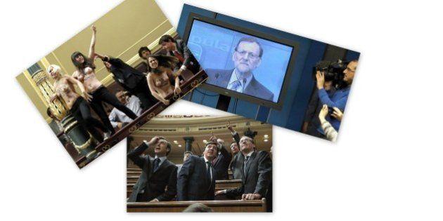 El plasma de Rajoy, elegida imagen política del año por los lectores del