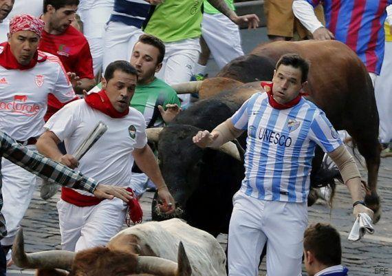 Cuarto encierro San Fermín 2015: una manada disgregada permite el lucimiento de los mozos