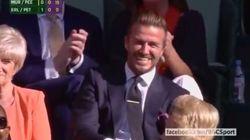 ¿Por qué se ríe tanto Beckham viendo un partido de
