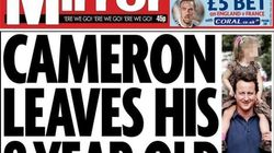 David Cameron se olvida de su hija en un