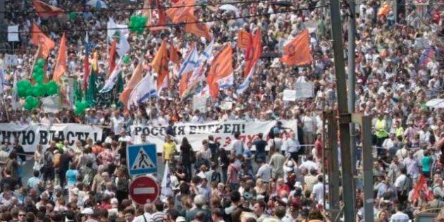 La oposición rusa culmina medio año de protestas con una gran marcha contra Putin