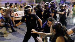 Varios heridos tras cargar la Policía contra los manifestantes
