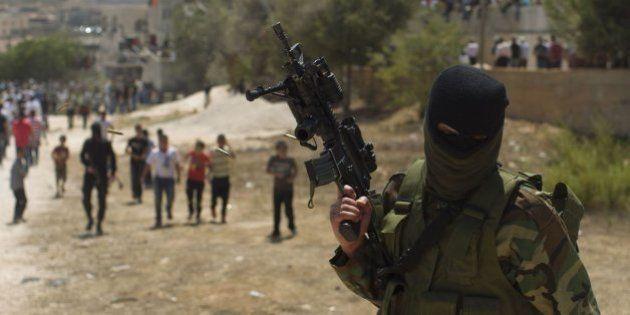 Enfrentamientos en el entierro de palestinos muertos en campo de