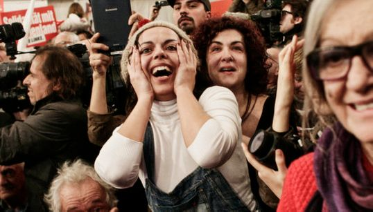 La alegría del cambio: la fiesta de los seguidores de Syriza