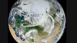 La 'canica azul', de blanco: la Tierra vista por primera vez desde el Polo Norte