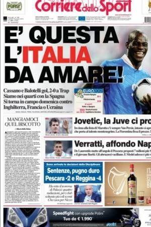 La prensa italiana 'se come' el 'biscotto' tras la victoria de