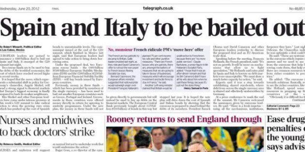 'The Telegraph' dice que Europa dará 750.000 millones para rescatar a España e