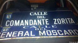 Arrancan cuatro placas de calles con nombres franquistas en