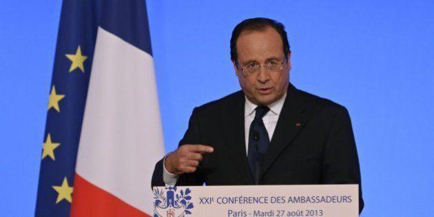 Hollande: Francia está dispuesta a castigar a quienes gasean a