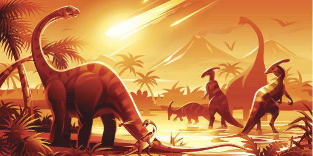 Nueva teoría sobre la extinción de los dinosaurios: el asteroide llegó en el peor