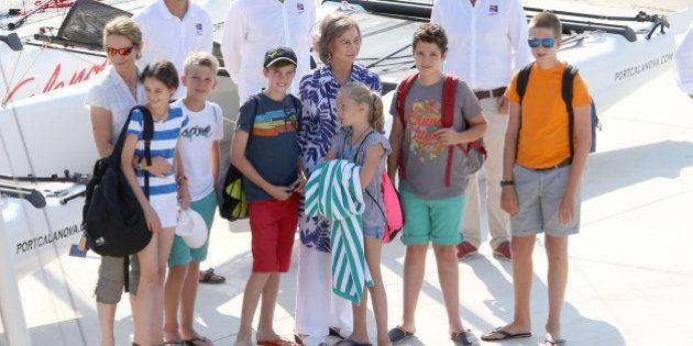 Posado real en Palma de Mallorca... sin los reyes Felipe y Letizia ni las infantas