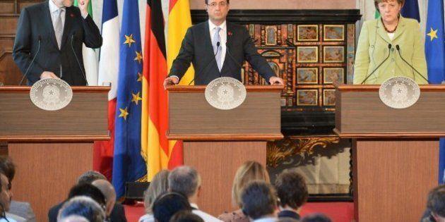 Merkel, Hollande, Monti y Rajoy anuncian 130.000 millones para reactivar el crecimiento