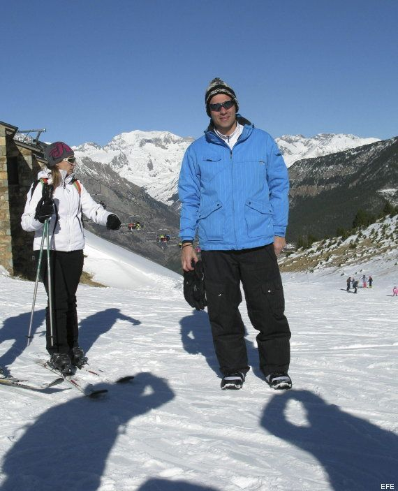 Pedro Sánchez, de vacaciones en la estación de esquí de