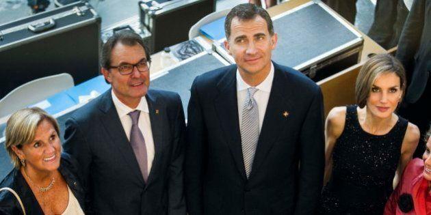 El rey pide en Cataluña una colaboración