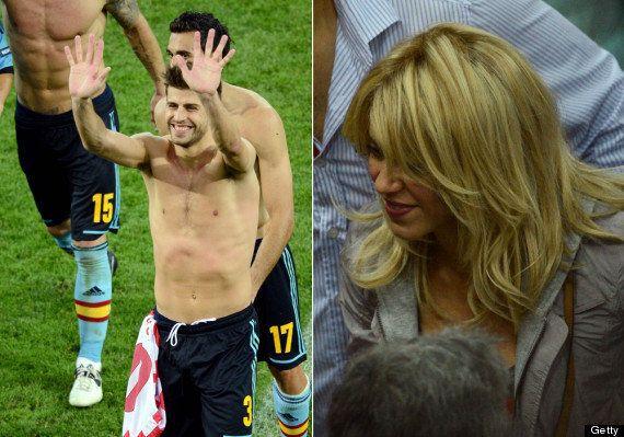 Las otras estrellas de 'La Roja': la Eurocopa de Shakira-Carbonero