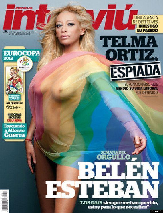 Belén Esteban, desnuda en Interviú por el Orgullo Gay
