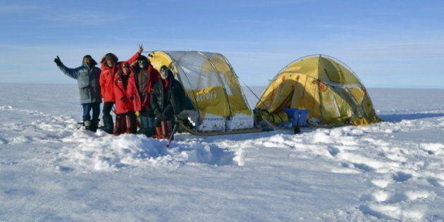 Viajando por Groenlandia en trineo de viento: el 'eco-laboratorio' español (FOTOS,
