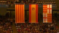 Pitada al himno de España en los mundiales de natación de Barcelona