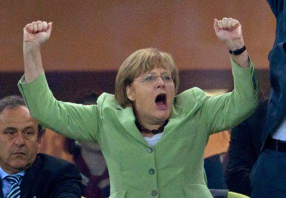 Merkel, vestida para